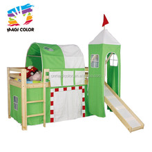 Wholesale most popular wooden junior loft bed with slide for sale as gift W08B008