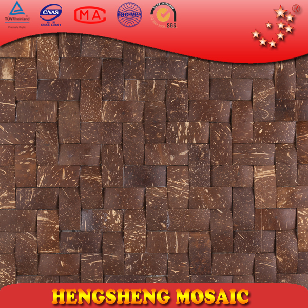 YK23 Hollow square coconut shell creative design mosaic wall tile