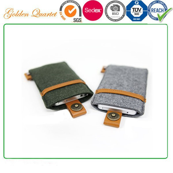 phone COVER FELT telephone bags/felt cloth cell phone pocket
