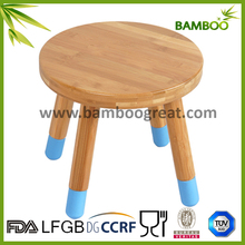 Newest Hot selling Round bamboo children chair with silicone feet
