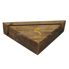 Top Grade Eco-friendly Wood Menu Stand For Restaurant Hotels Wooden Menu Holder with Customized