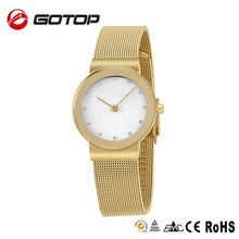 bulk buy from China quality miyota japan movt quartz watch lady brand watch IPG gold plating watch casing