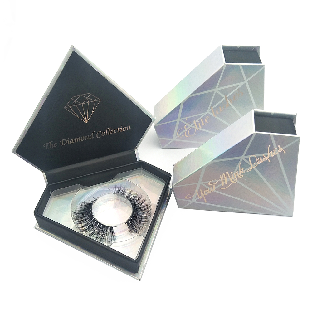 Free sample custom private label diamond cheap mink lashes 3d mink eyelash