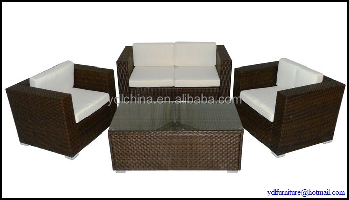 outdoor patio wicker synthetic garden rattan sofa set furniture YKD-05A