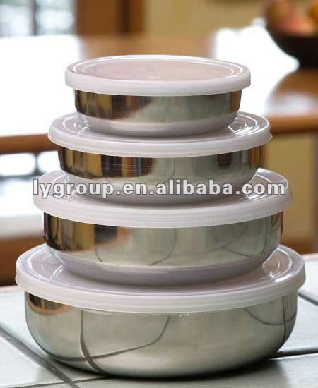 Round BPA-Free Stainless Steel Sealable Food Container