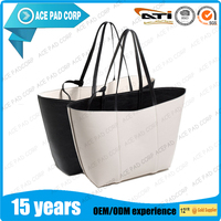 2016 hot sale PU fancy ladies two sided bag