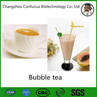 Bubble milk tea powder for solid drink