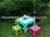 Plastic foldable table/out door table