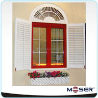 Moser brand German style solid wood shutter window