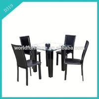 1+4 modern design metal dining table and chair