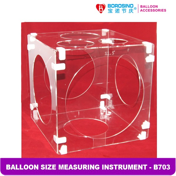 Wholesale 12 Inch Transparent Balloons Size Measuring Tool