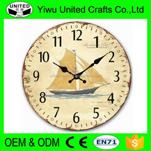 "13"" Wall Clock with Angel Blessing Vinatge French Artwork Rustic Prints"