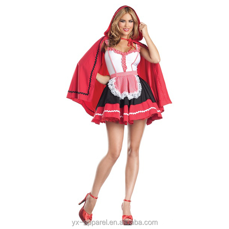 ladies sexy little red riding hood costume fancy dress party cosplay costumes china