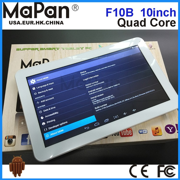 cheap 8gb ram laptop 10inch quad core android 4.4 mini pc atm7029 tablet pc with CE FCC MaPan F10B