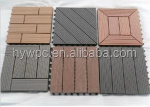 Factory price High Quality Interlocking outdoor deck tiles/WPC DIY Floor/ Wood plastic
