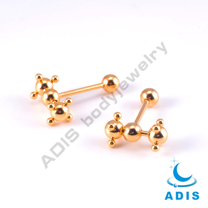 Stainless Steel Dimple Spinning Barbell body piercing jewelry