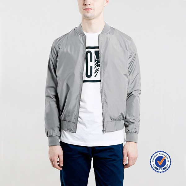 wholesale american fashion man custom plain bomber jacket made in china