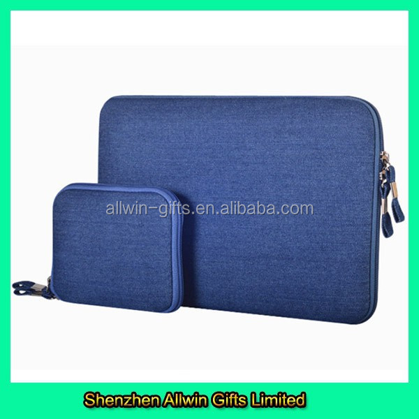 Denim 17 inch laptop bag for Ipad