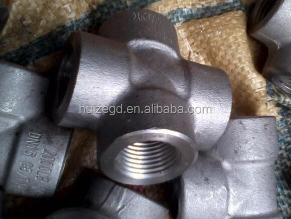 High Pressure Forged Fitting BSPT NPT Cross