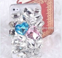 Luxury flower crystal big bling diamond hard case for iPhone4 4S