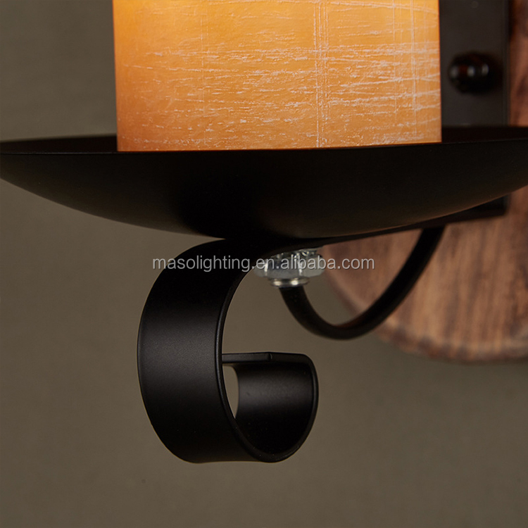 Antique decorative wood carved wall lamp foot cover led vintage wall light indoor e14 lamp holder