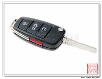 car key shell 3+1 button for Audi folding key cover [ AS008016 ]