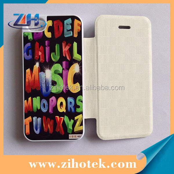 Flip sublimation cover for Samsung S4 mini (PU cover cases + Aluminum insert)