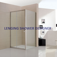 Factory Price 304 stainless steel 8mm angle shower cabinet / angle shower cubicles