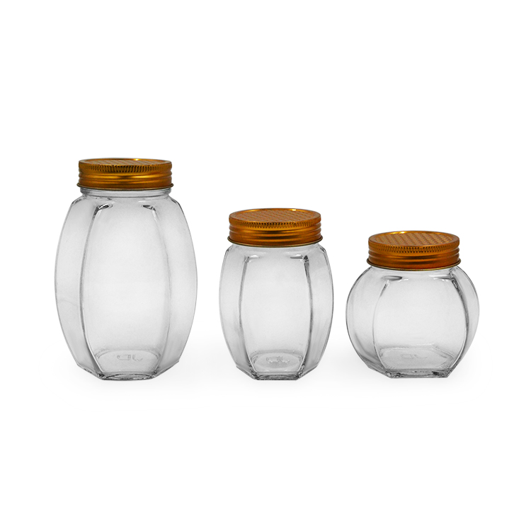 xuzhou 1.5oz clear hexagon mini glass honey jar