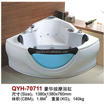 2017Hot sale QYH cheap Luxury Massage bathtub with used by Acrylic finshied for bathroom