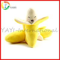 Banana Shape Squeaky Chew Plush Dog Sex Toy