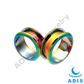 rainbow stainless steel round flesh tunnels,316l piercings