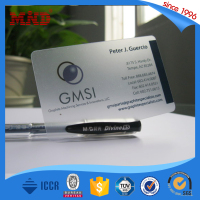 MDP311 Top quality best sell transparent pvc name card mebership card cheap price