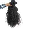 One Donor Virgin Hair Weft Large Stock wet and wavy virgin hair extension