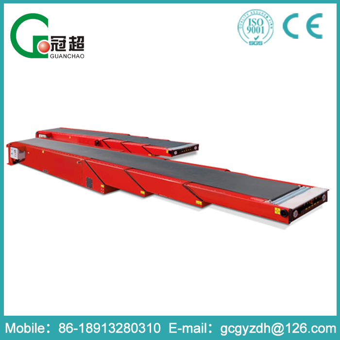 NJGC-- Large conveying capacity and easy operating 3 section telescopic belt conveyors for loading container and truck