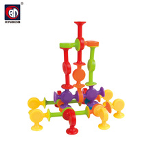 Intelligence silicone rubber building blocks educational DIY puzzle bricks game toys