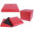 PVC leather foldable storage ottoman stool with button