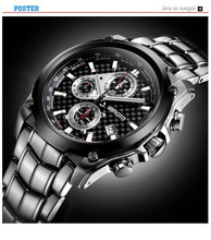 2014 cool black style 3 japan quartz movement vogue men watch