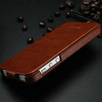 supler slim real leather wallet leather case flip folding cover case for iphone 5 5s