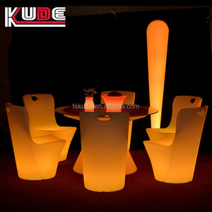 Garden Set Lighting Furniture Party LED Furniture/Plastic LED Table and Chair for Outdoor