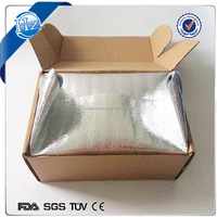 Cold Insulated Shipping Box Liner,isolated cooler bag cooler box ice chest .aluminum foil cooler bag box ship with ice pack