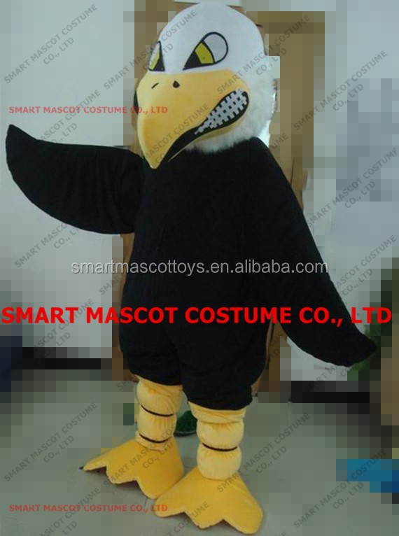 Good visual soft plush hawk costume for unisex cosplay animal adult hawk costume