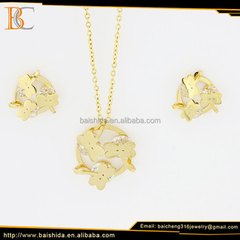 custom jewelry set likeable animal shape gold jewelry factory sale direct