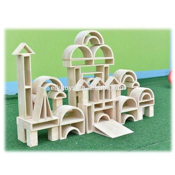 Newest Design Kids Wooden Games Building Blocks Natural Beech Wood Educational Building Blocks
