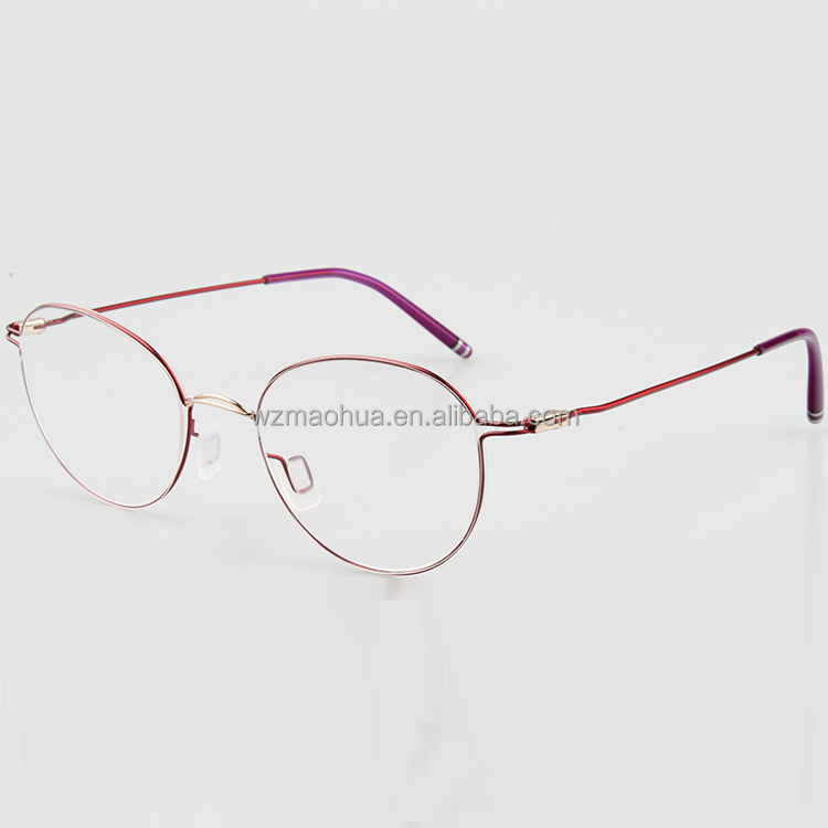 Modern sofa safety metal photo frame rimless glasses for women
