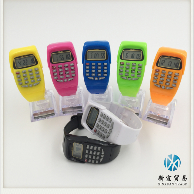colorful wrist calculator watch for kids