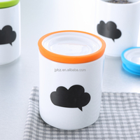 Middle size ceramic tea coffee sugar containers
