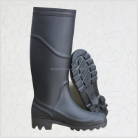 black PVC AN109 brand name shoes, PVC rain boots, rain boots price