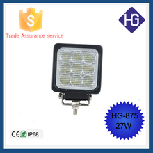 27W Auto Parts LED Work Light for Automobiles, Truck, SUV, ATV, UTV, Jeep, off road vehicles led