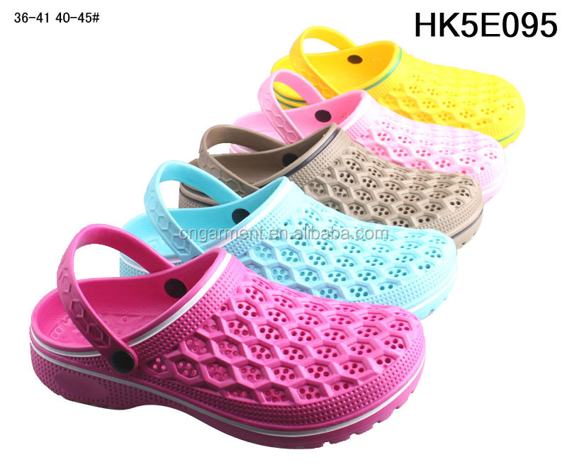 the newest designs low price women clog shoes HK5E095